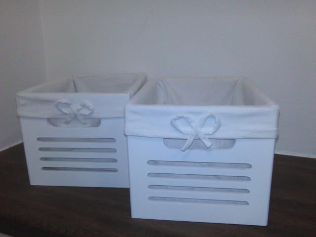 Set boxů Rudolf - 2 ks, barva bílá