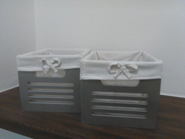 Set boxů Gustav - 2 ks, barva stříbrná