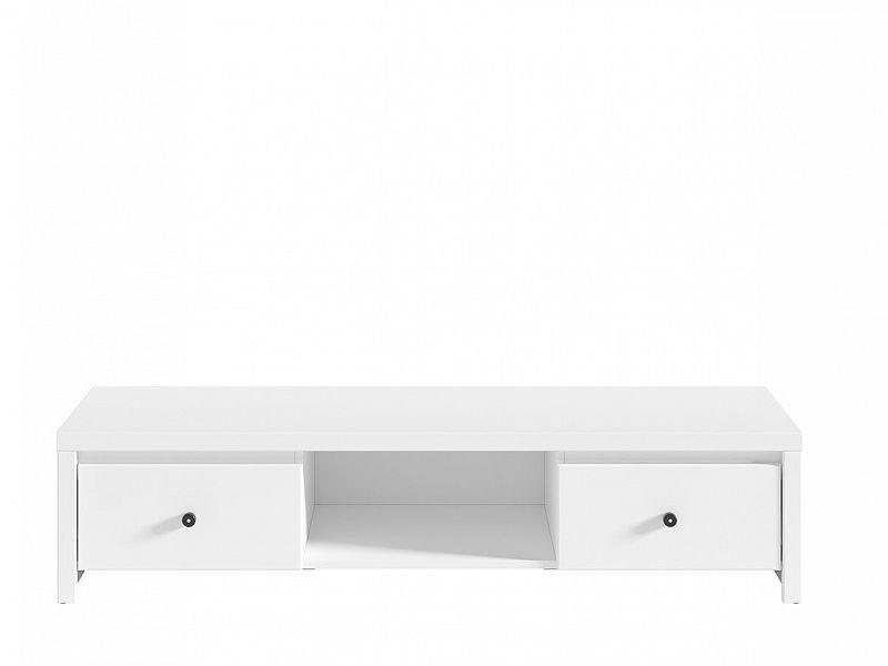 BRW Televizní stolek Karet RTV2S - úchyt černý Bílá