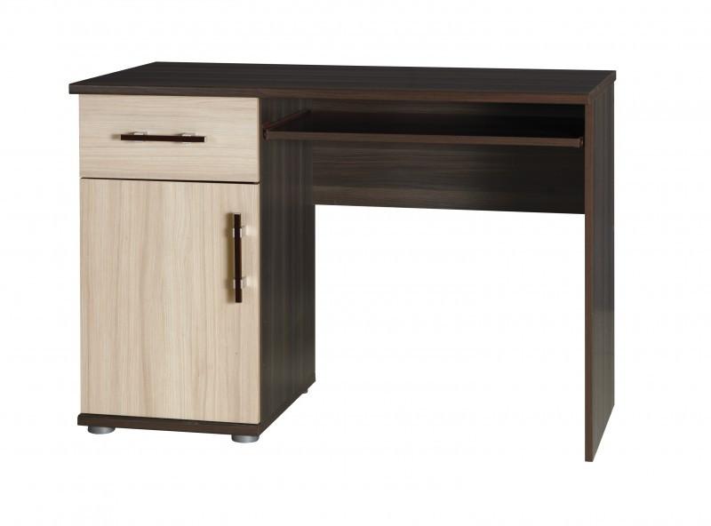 Falco Psací stůl Ingrid R14 - jasan tmavý/jasan světlý
