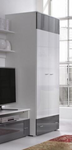 Skříň Wendigo R1 - bílá/lesk grafit,bílá