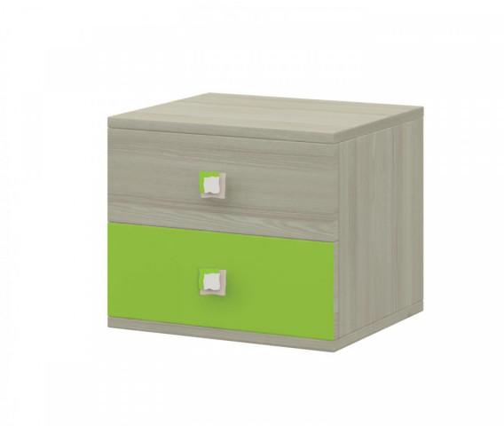 Noční stolek Merkur 22 - jasan/zelená