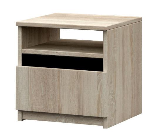 Falco Noční stolek Madison 23 - dub sonoma/černá