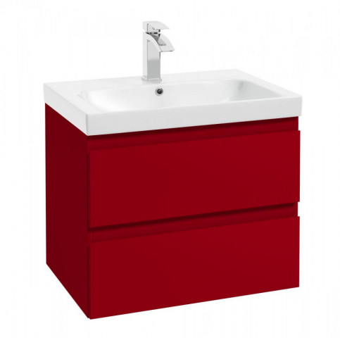Skříňka pod umyvadlo Como D65 - červená