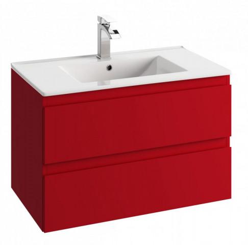 Skříňka pod umyvadlo Como D80/45 - červená