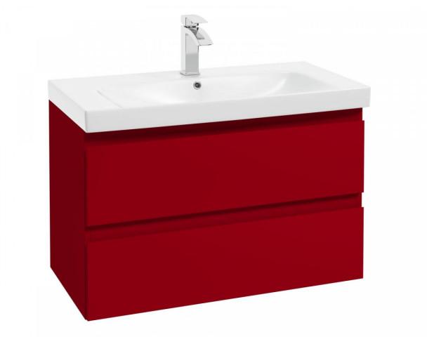 Skříňka pod umyvadlo Como D85 - červená