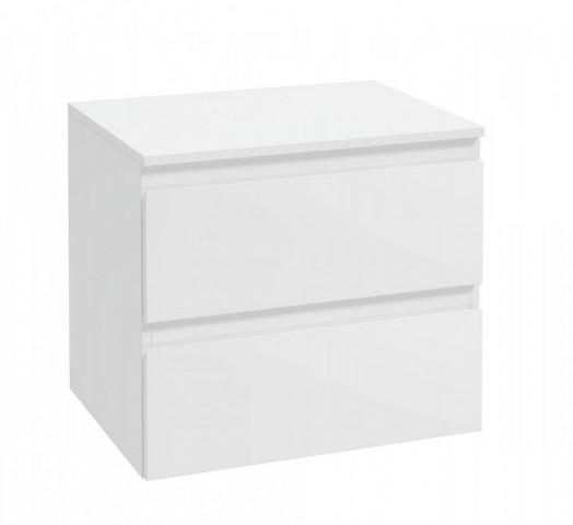 Závěsná koupelnová skříňka Como B60 - bílá