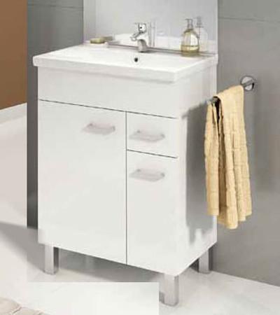 Koupelnová skříňka s umyvadlem Catania D60 bílý - lesk
