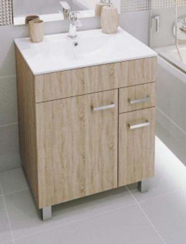 Koupelnová skříňka s umyvadlem Catania D60 - sonoma