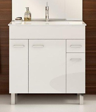 Falco Koupelnová skříňka s umyvadlem Catania D80 - bílý lesk