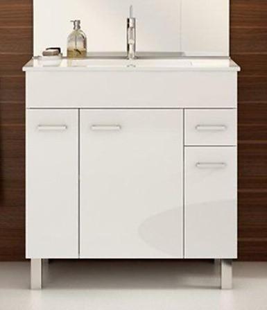 Koupelnová skříňka s umyvadlem Catania D80 - bílý lesk