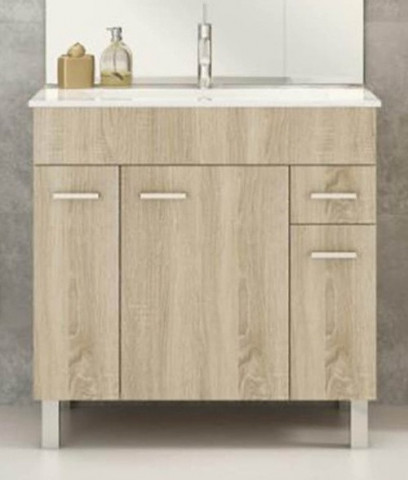 Koupelnová skříňka s umyvadlem Catania D80 - sonoma