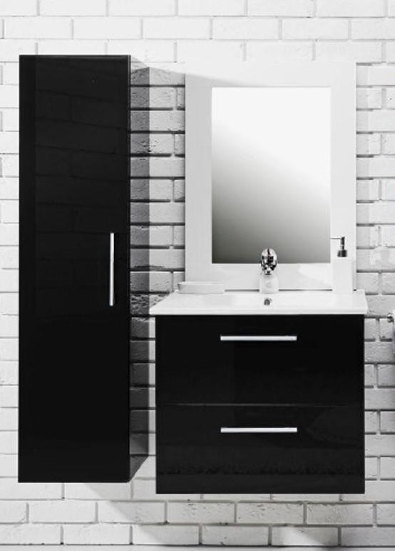 Falco Koupelnová sestava s umyvadlem Metro 80 - černý lesk