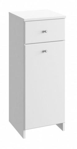 Koupelnová skříňka Tania B32 koš - bílý lesk