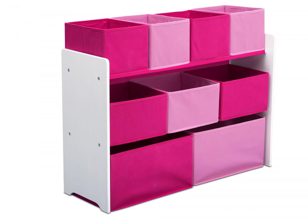 Forclaire Organizér na hračky růžovo-bílý