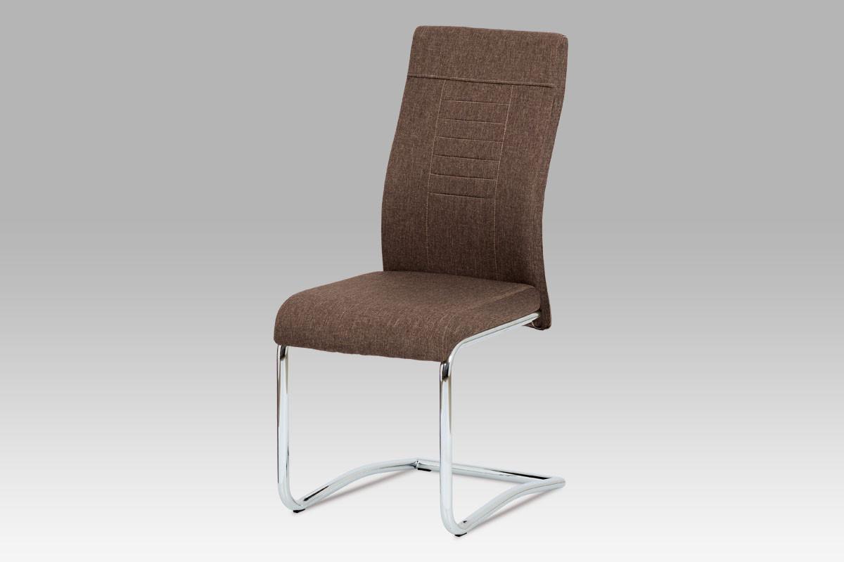 Autronic Jídelní židle DCL-427 BR2 - hnědá látka
