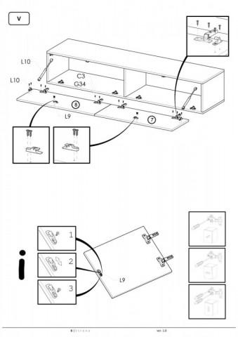 Televizní stolek Livo RTV-160W č.10