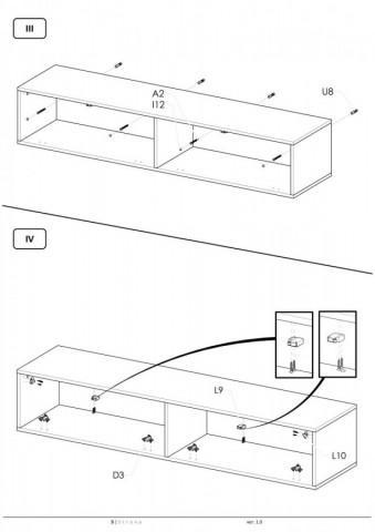 Televizní stolek Livo RTV-160W č.11