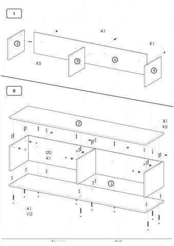 Televizní stolek Livo RTV-160W č.12