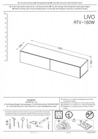 Televizní stolek Livo RTV-160W č.14