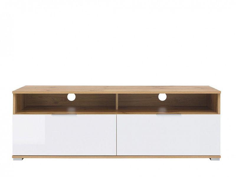 Televizní stolek Zele RTV2S - dub wotan/bílý lesk