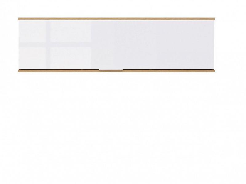 Levně BRW Závěsná skříňka Zele SFW1K - dub wotan/bílý lesk