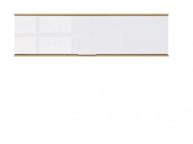 Závěsná skříňka Zele SFW1K - dub wotan/bílý lesk