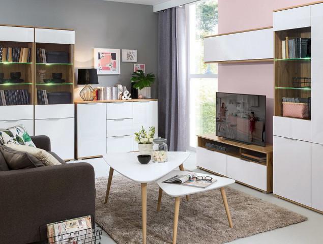 Šuplík pod postel Zele SZU-DWO - dub wotan/bílý lesk č.4