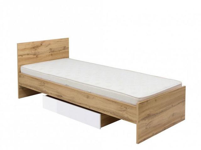 Šuplík pod postel Zele SZU-DWO - dub wotan/bílý lesk č.2