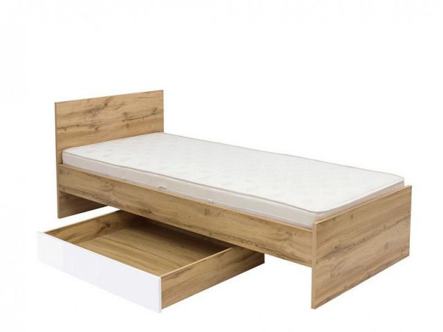 Šuplík pod postel Zele SZU-DWO - dub wotan/bílý lesk č.3