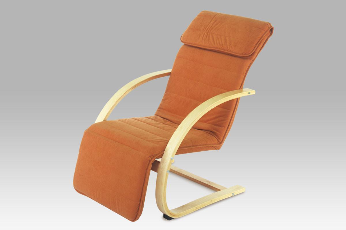Autronic Relaxační křeslo QR-31 NAT - přírodní / látka terracotta