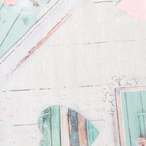 Koberec, béžová / vintage vzor, 80x300, SONIL