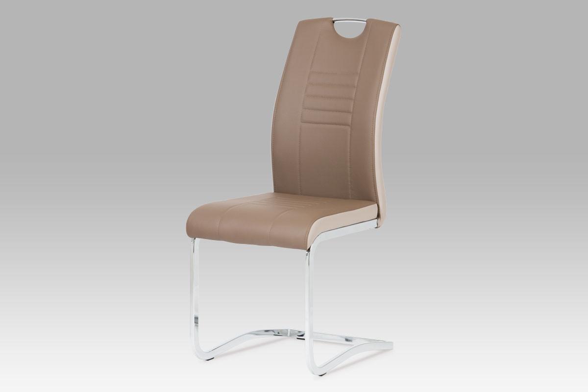 Autronic Jídelní židle DCL-406 GREY - šedá/bílé boky