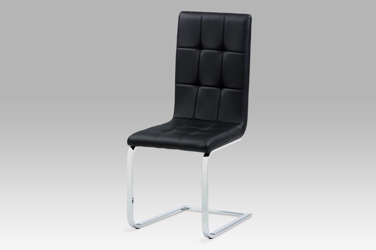 Autronic Jídelní židle DCL-103 BK - černá koženka