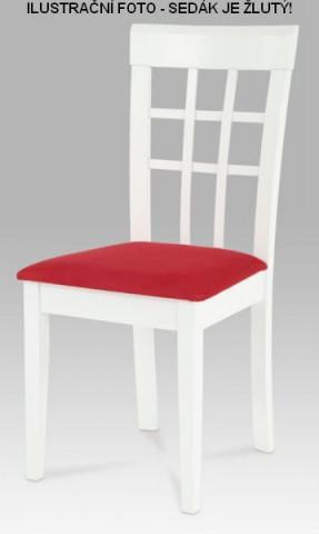 Jídelní židle BE1604 WT + žlutý sedák