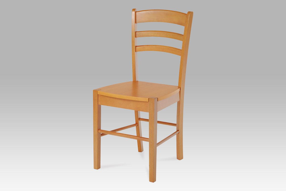 Autronic Dřevěná židle AUC-004 WT - Bílá