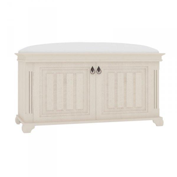 Lubidom Amelie Polstrovaná lavice s úložným prostorem - bílá provence