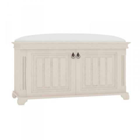 Amelie Polstrovaná lavice s úložným prostorem - bílá provence
