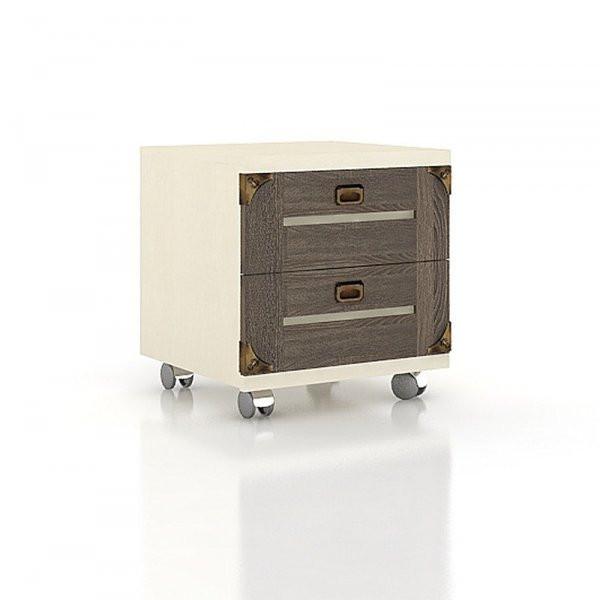 Noční stolek na kolečkách dětské pokoje - štichlak/sonoma H tmavá