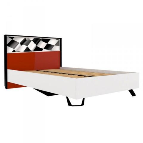 Dětská postel Formula 120x200 - červená, bílá