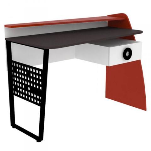"""Stůl psací Formula - červená, bíla, """"Rock"""""""