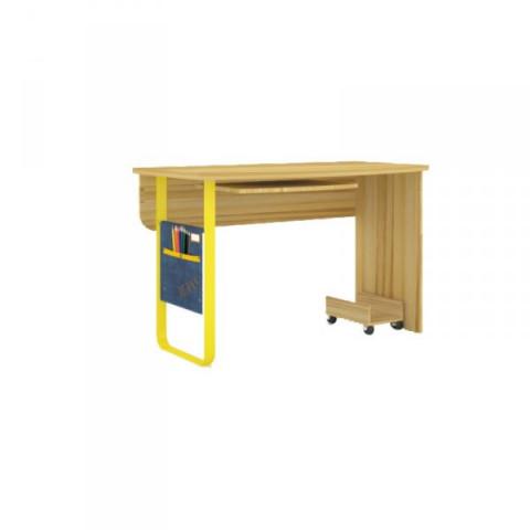 Psací stůl Jeans rovný - santana / žlutý
