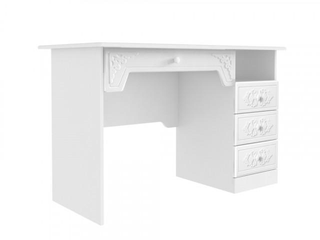 Psací stůl Ariel - bíla White schagreen