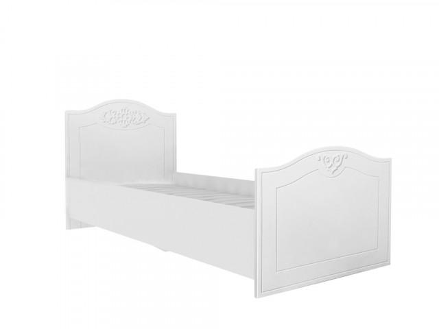 Postel 80x190 cm Ariel - bíla White schagreen