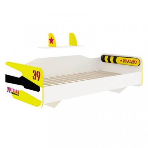 Postel 90x200 Aviator - bílý, černý, žlutý
