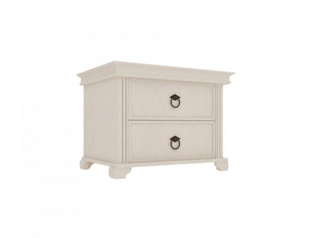 noční stolek Amelie 2 šuplíky - bílá provence