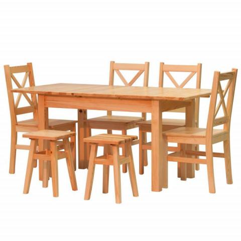 Ilustrační foto - Jídelní stůl Pino + Židle Pino X + Taburet Pino