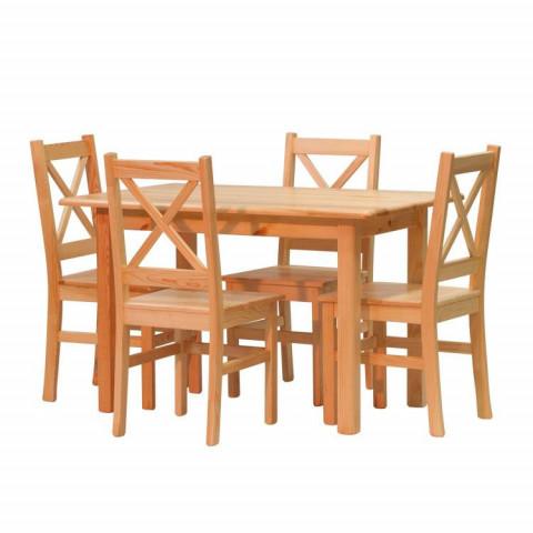 Jídelní set židle Pino x + stůl Pino 120x80 cm