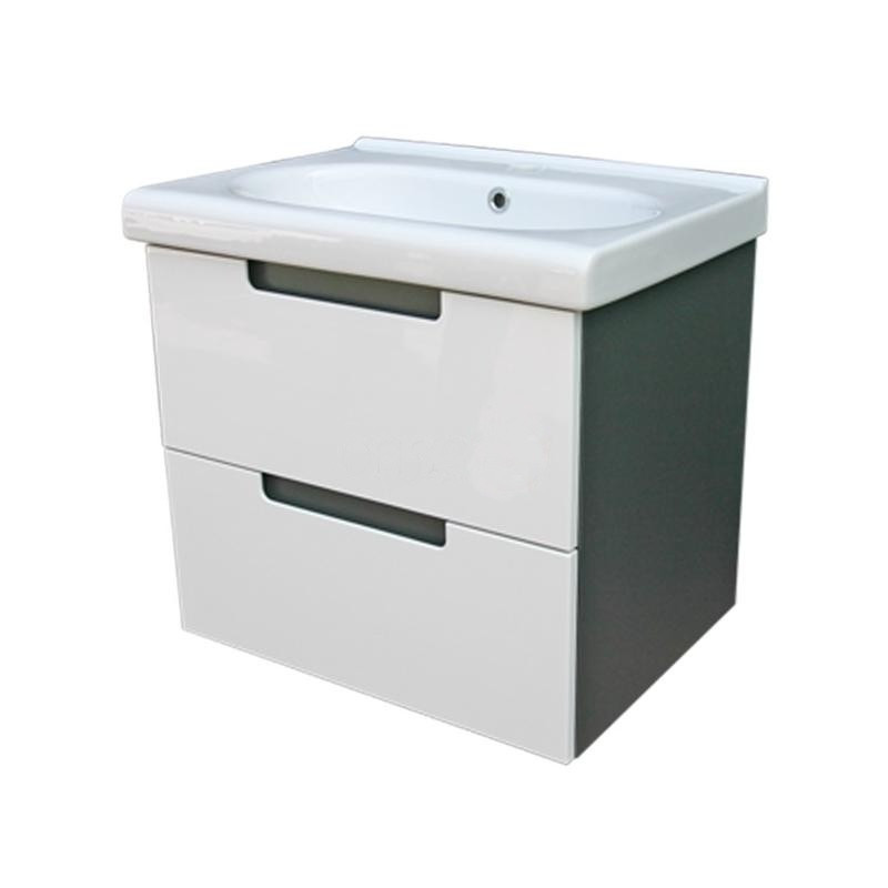 Falco Koupelnová skříňka s umyvadlem Provo D60 grafit/bílý lesk