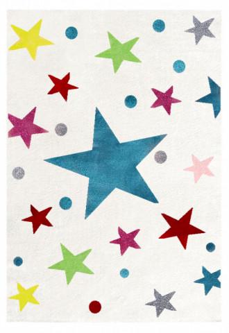 Dětský koberec STARS krémová/multicolor